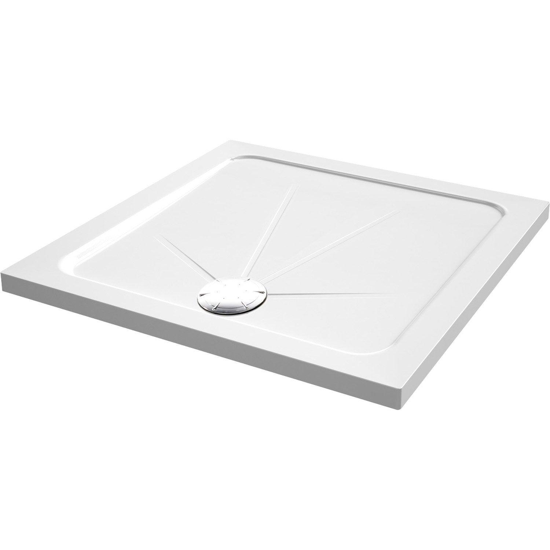 Receveur de douche carr x cm acrylique blanc for Couchtisch 80 x 80 cm