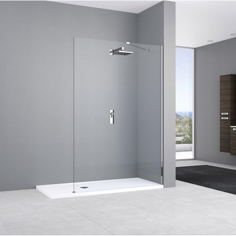 paroi de douche l 39 italienne cm verre transparent 8 mm elisea leroy merlin. Black Bedroom Furniture Sets. Home Design Ideas