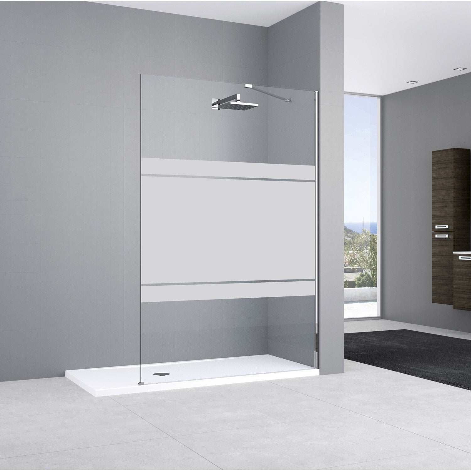 paroi de douche l 39 italienne cm verre s rigraphi 8. Black Bedroom Furniture Sets. Home Design Ideas