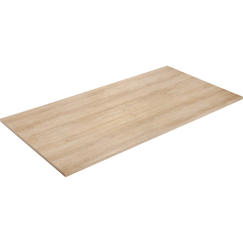 Plateau de table agglom r ch ne x cm x for Bureau 80 cm de largeur