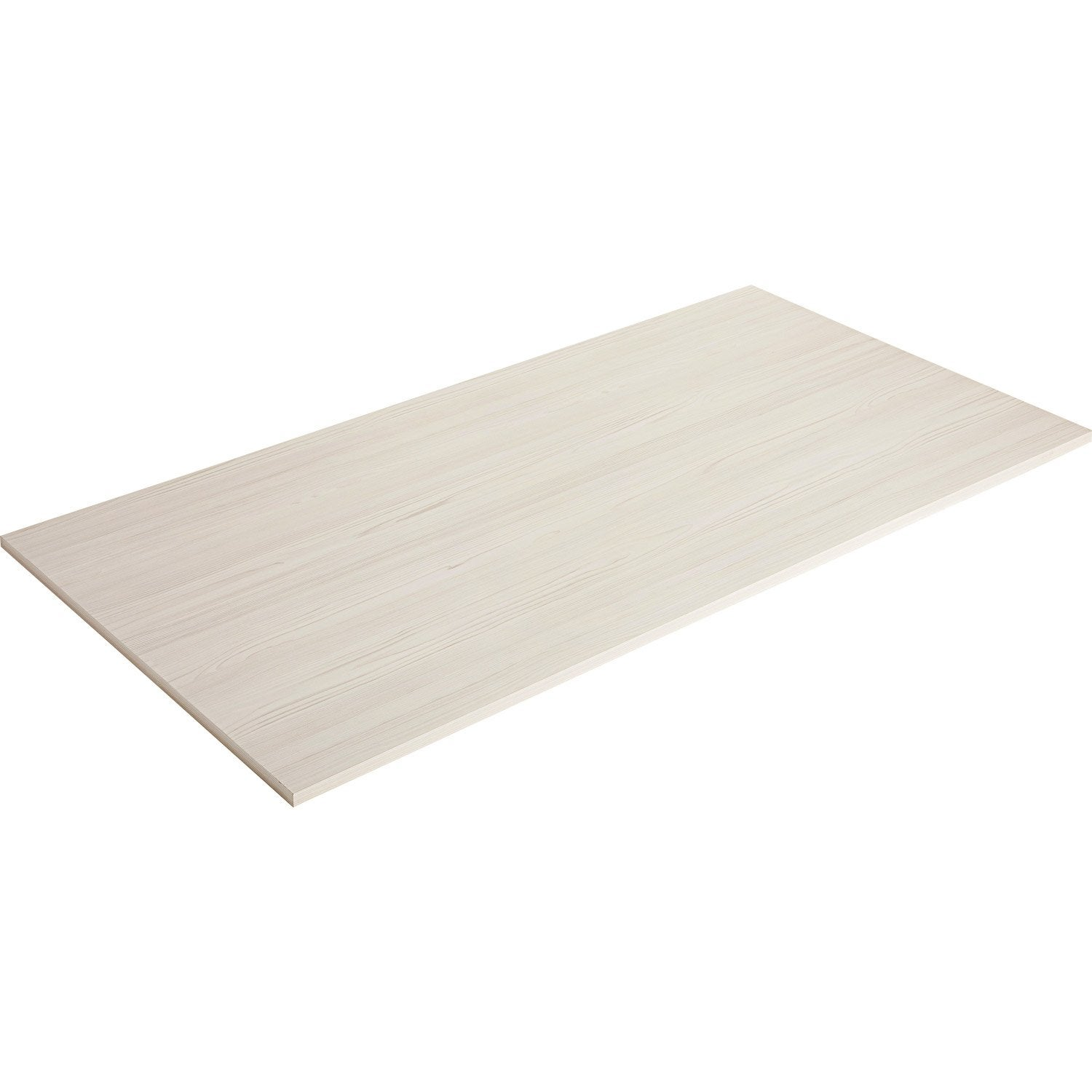 Plateau de table agglom r pin blanchi spaceo x cm x mm l - Ikea plateau de table ...