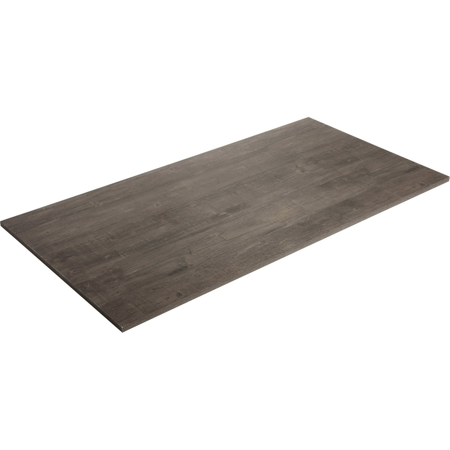 Plateau de table agglom r planche us e noire spaceo l for Pulidoras de suelos leroy merlin