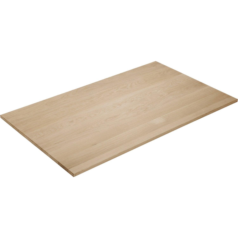 Plateau de table ch ne pleine lame x cm x ep for Plateau de table rond 120 cm