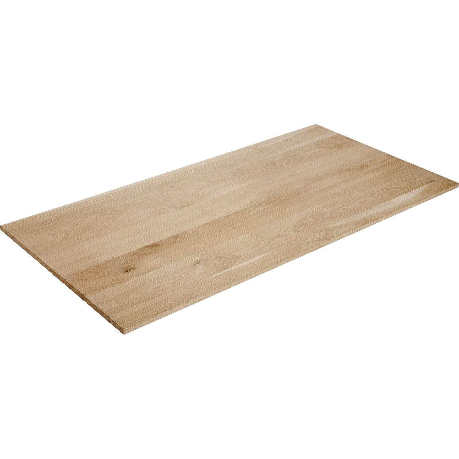 Plateau de table ch ne pleine lame x cm x ep for Carrelage 80 x 80