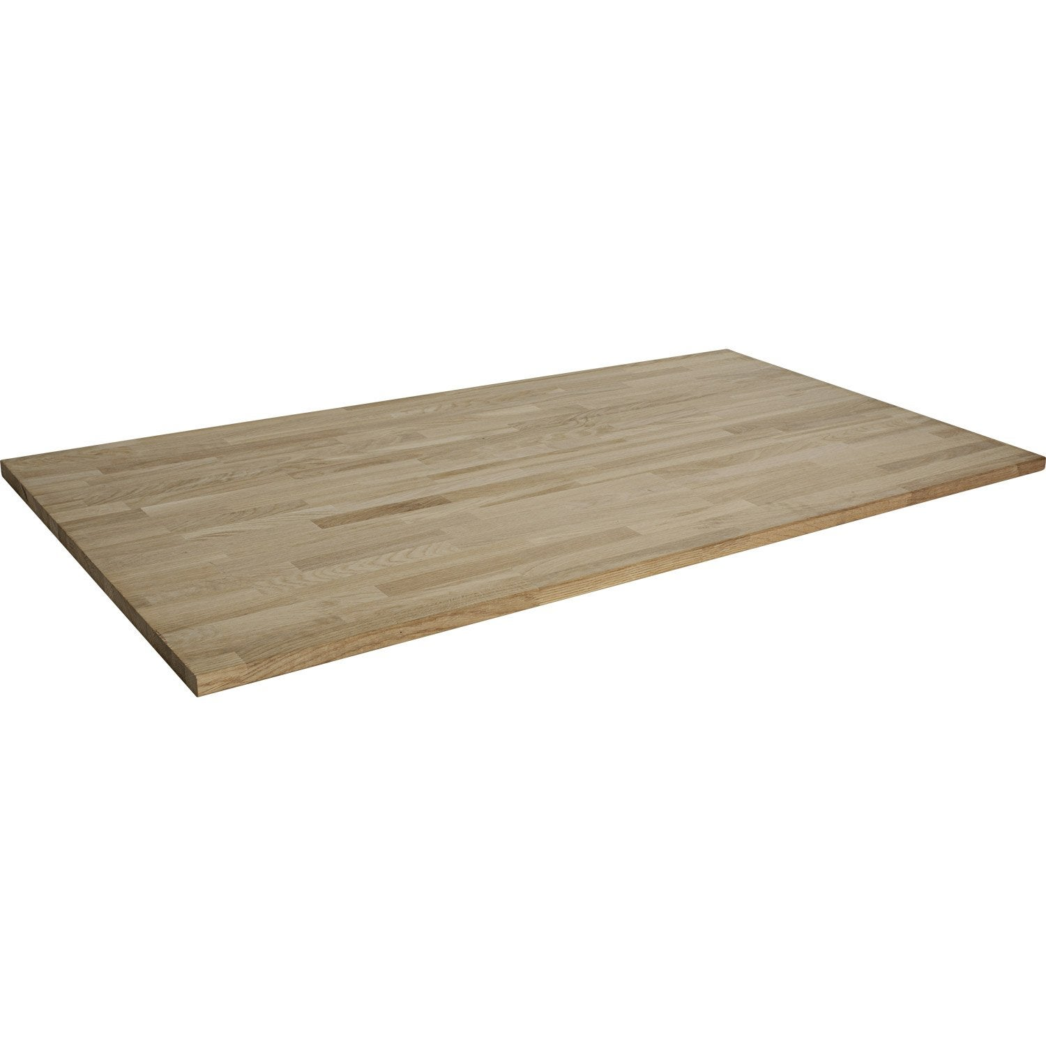 Plateau de table ch ne lamell coll x cm x ep for Table exterieur sur mesure