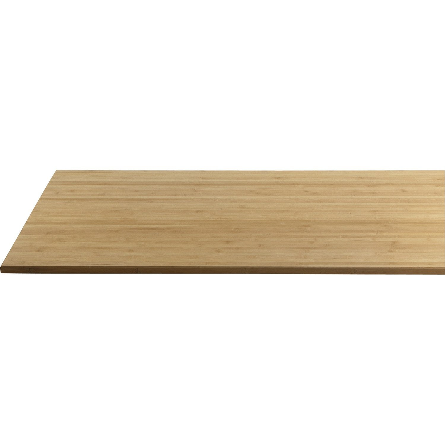 Plateau De Table Bambou L 160 X L 80 Cm X Ep 22 Mm