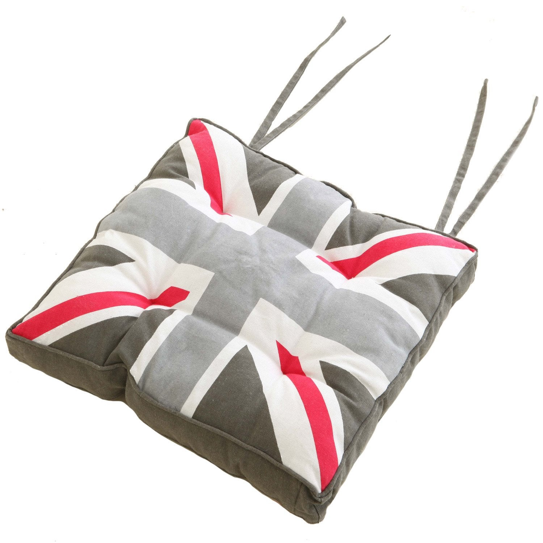 galette de chaise london multicouleur x h 5 cm leroy merlin. Black Bedroom Furniture Sets. Home Design Ideas