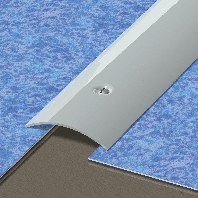 barre de seuil inox gris x l 4 5 cm leroy merlin. Black Bedroom Furniture Sets. Home Design Ideas