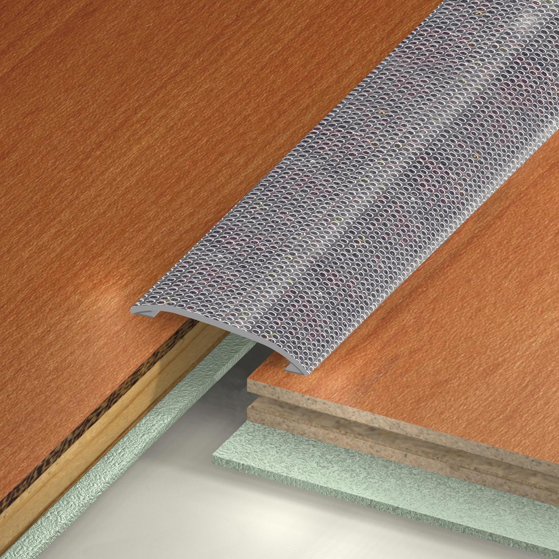 barre de seuil adh sif en inox dinac gris 37 x 83 cm leroy merlin. Black Bedroom Furniture Sets. Home Design Ideas