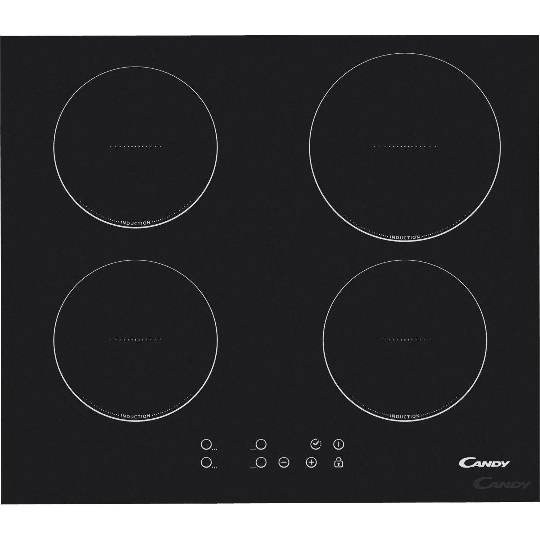 Plaque à Induction Foyers Noir CANDY CIC Leroy Merlin - Cuisiniere induction gaz pour idees de deco de cuisine