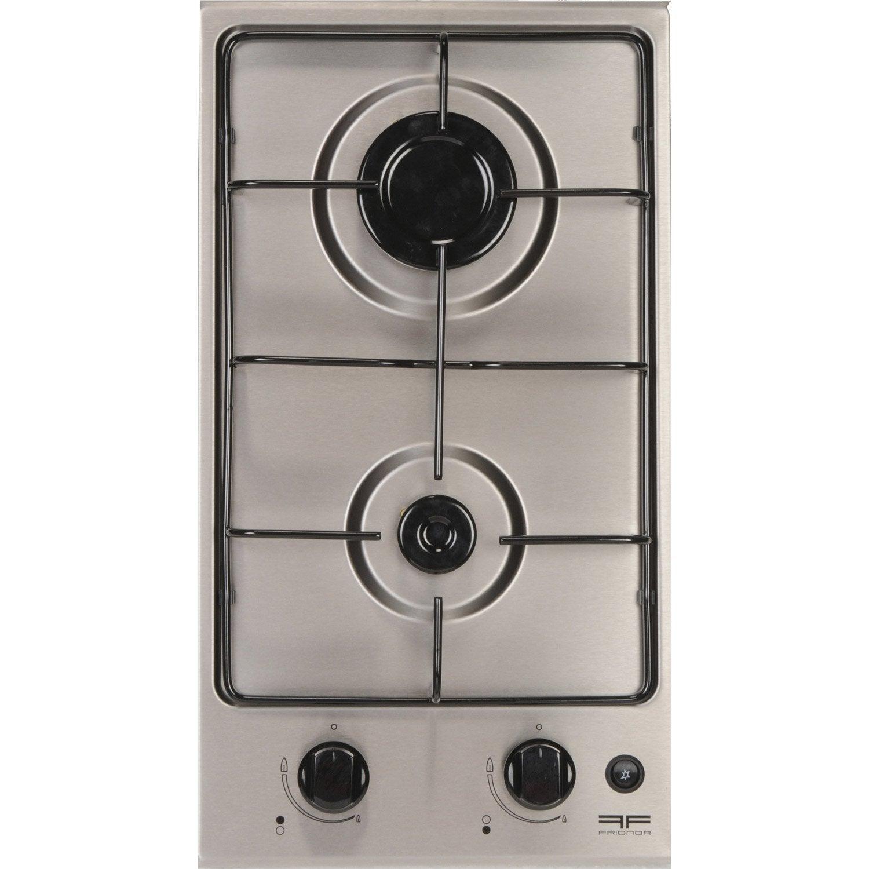 Plaque de cuisson gaz frionor dginfri 2 foyers leroy merlin for Nettoyer plaque de cuisson gaz