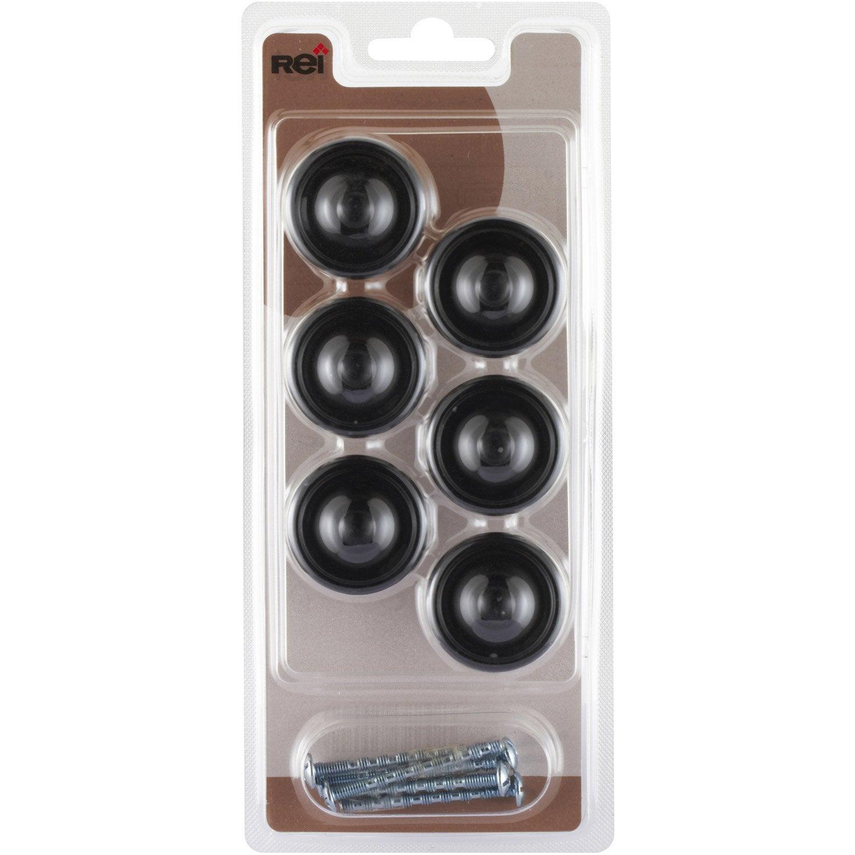 Lot de 6 boutons de meuble zamak mat leroy merlin - Bouton de meuble leroy merlin ...