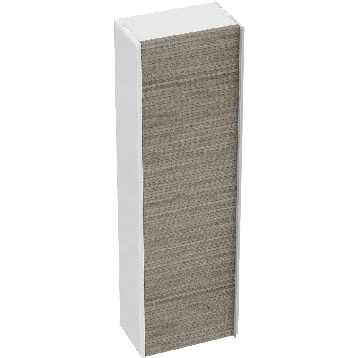 meuble demi colonne x x cm imitation bambou idealsmart leroy merlin. Black Bedroom Furniture Sets. Home Design Ideas