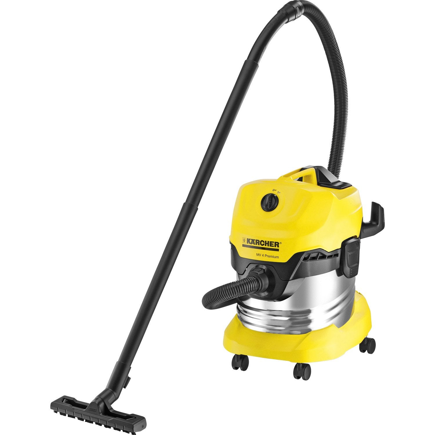 aspirateur eau poussi res et gravats karcher wd4 premium 21 kpa 20 l leroy merlin. Black Bedroom Furniture Sets. Home Design Ideas