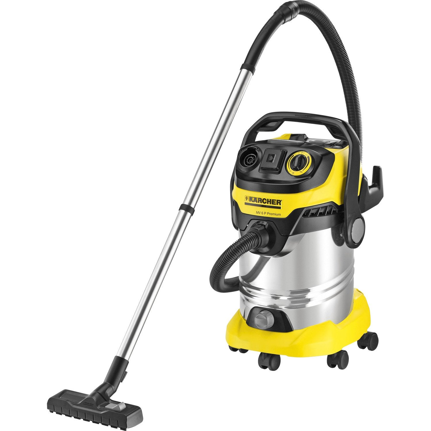 aspirateur eau poussi res et gravats karcher wd6 premium 23 kpa 30 l leroy merlin. Black Bedroom Furniture Sets. Home Design Ideas