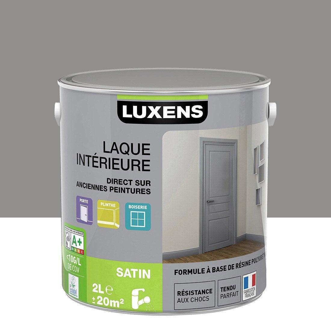 Peinture gris galet 3 luxens laque satin 2 l leroy merlin - Peinture isolante leroy merlin ...