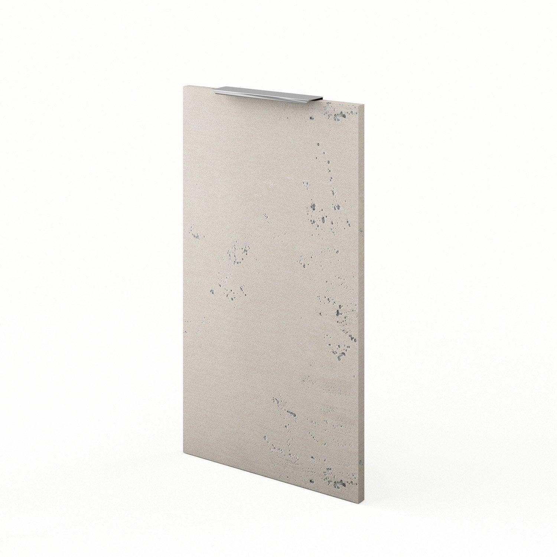 Porte de cuisine d cor b ton f40 loft l40 x h70 cm - Loft beton cire leroy merlin ...