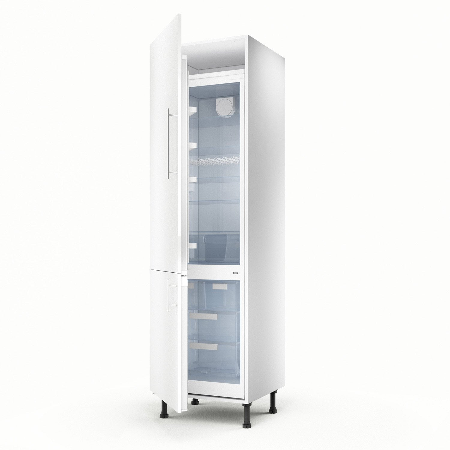 Meuble de cuisine colonne blanc 2 portes rio x for Portes elements cuisine leroy merlin