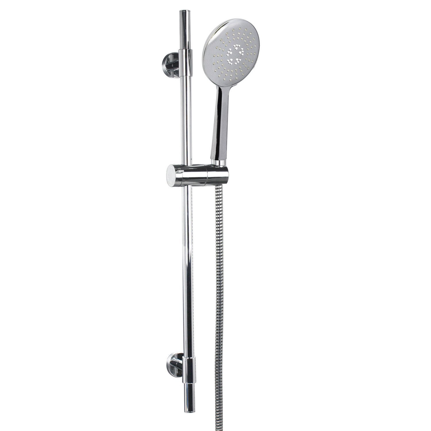 Ensemble silva 3 jets chrome sensea leroy merlin for Ensemble de douche leroy merlin