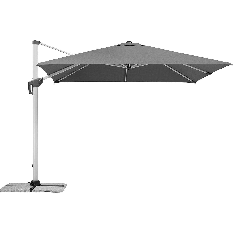 parasol d port monaco gris carr x cm. Black Bedroom Furniture Sets. Home Design Ideas