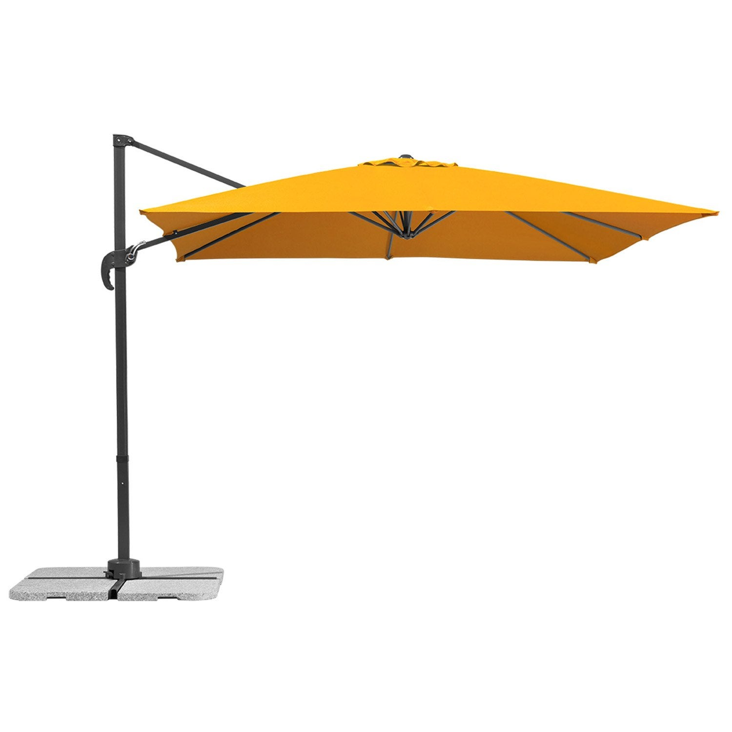 parasol d port rhodos mandarine carr x cm. Black Bedroom Furniture Sets. Home Design Ideas