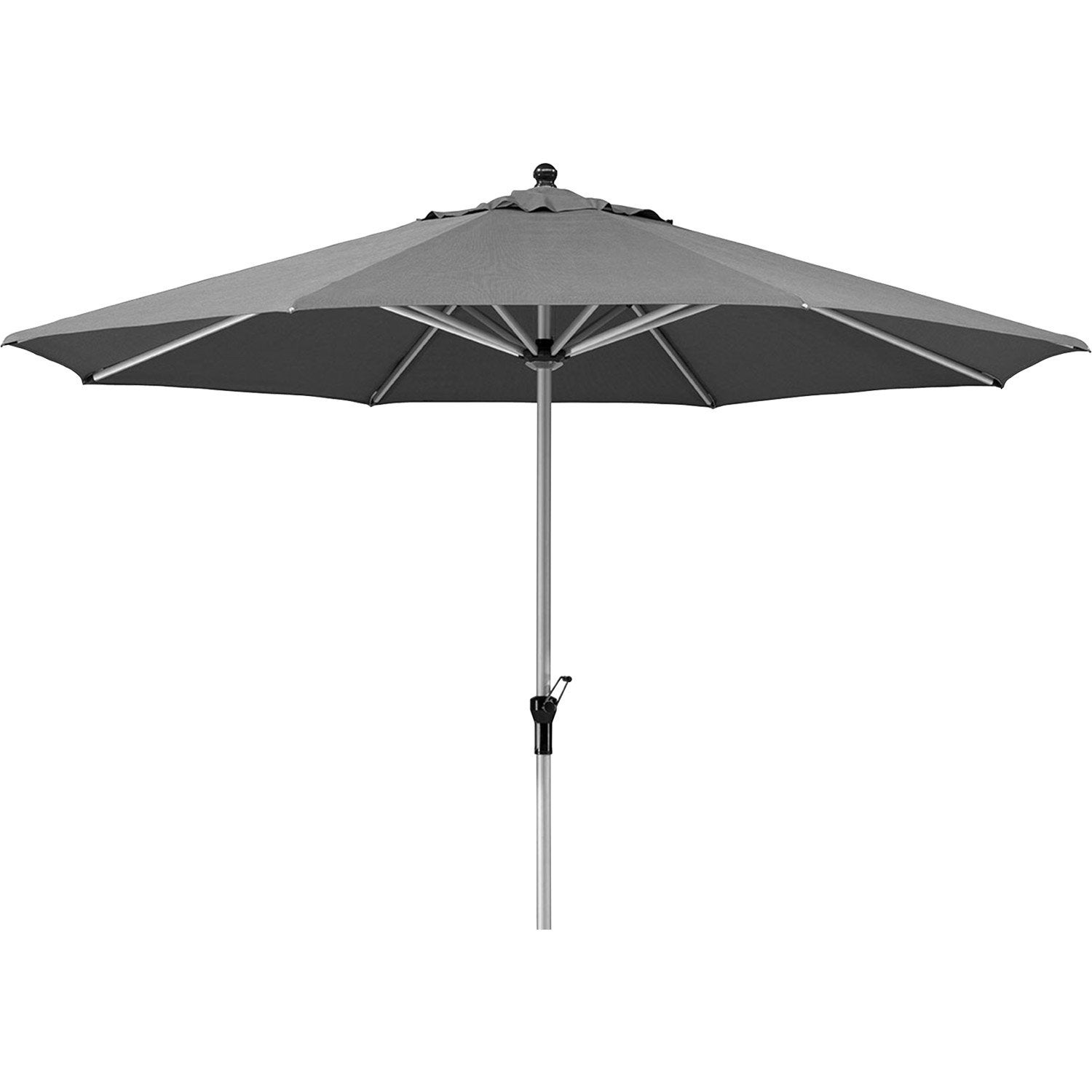Parasol droit monaco gris carr x cm leroy for Parasol deporte inclinable leroy merlin