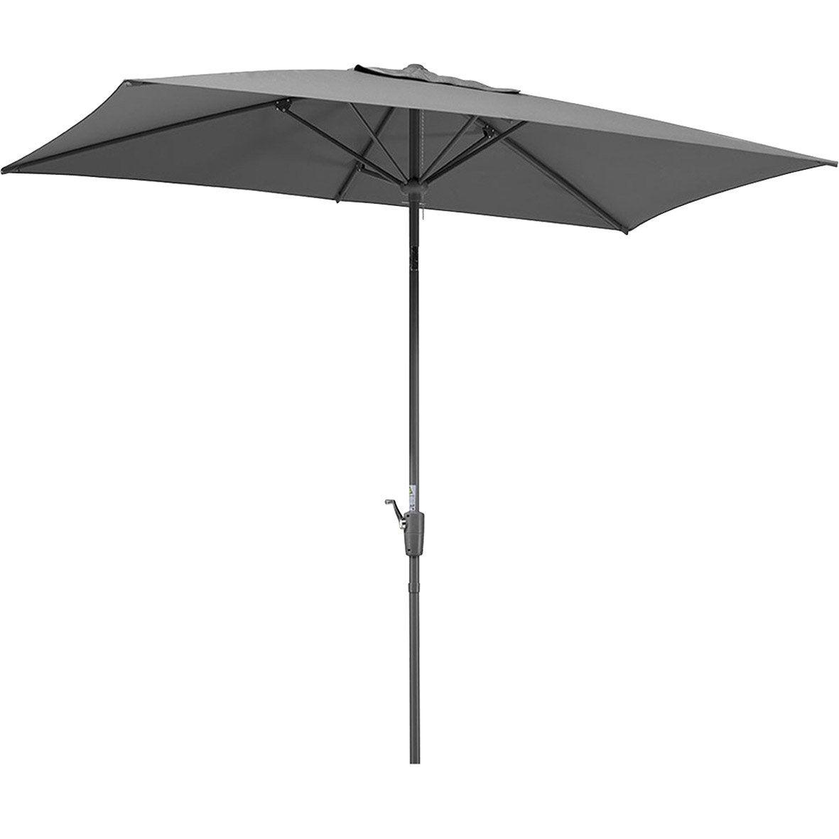Parasol droit tunis anthracite rectangulaire x cm leroy merlin - Rode leroy merlin parasol ...