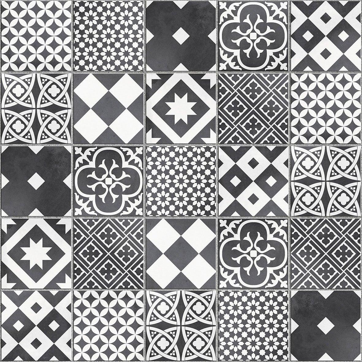 mosaque sol et mur gatsby dcor noir et blanc - Galet Noir Salle De Bain
