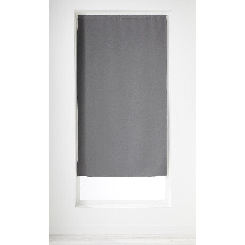 rideau obscurcissant anthracite x cm leroy merlin. Black Bedroom Furniture Sets. Home Design Ideas