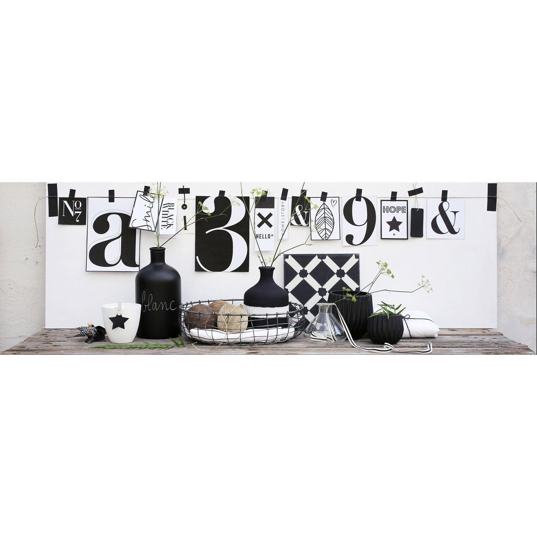 toile imprim e chiffres x cm leroy merlin. Black Bedroom Furniture Sets. Home Design Ideas