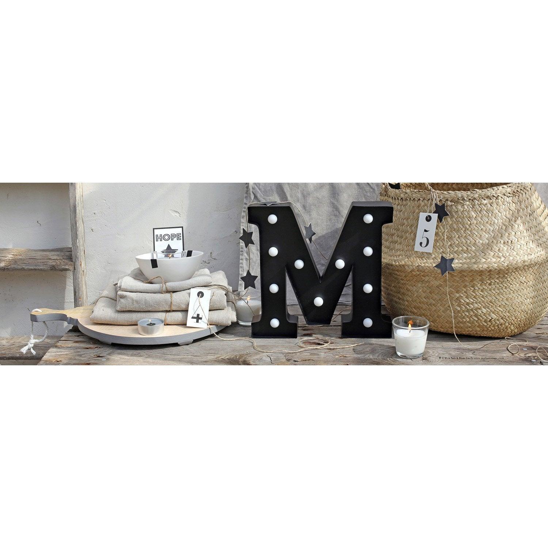 Toile led lettre m x cm leroy merlin - Tableau toile leroy merlin ...