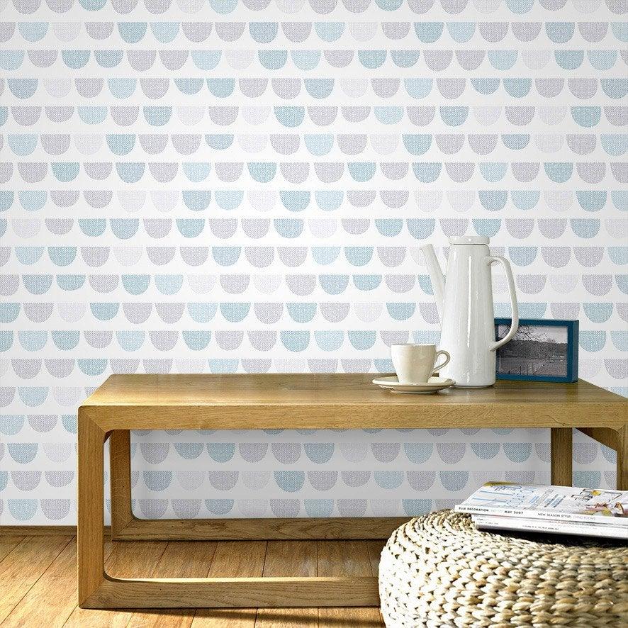 papier peint intiss todd blanc et bleu leroy merlin. Black Bedroom Furniture Sets. Home Design Ideas