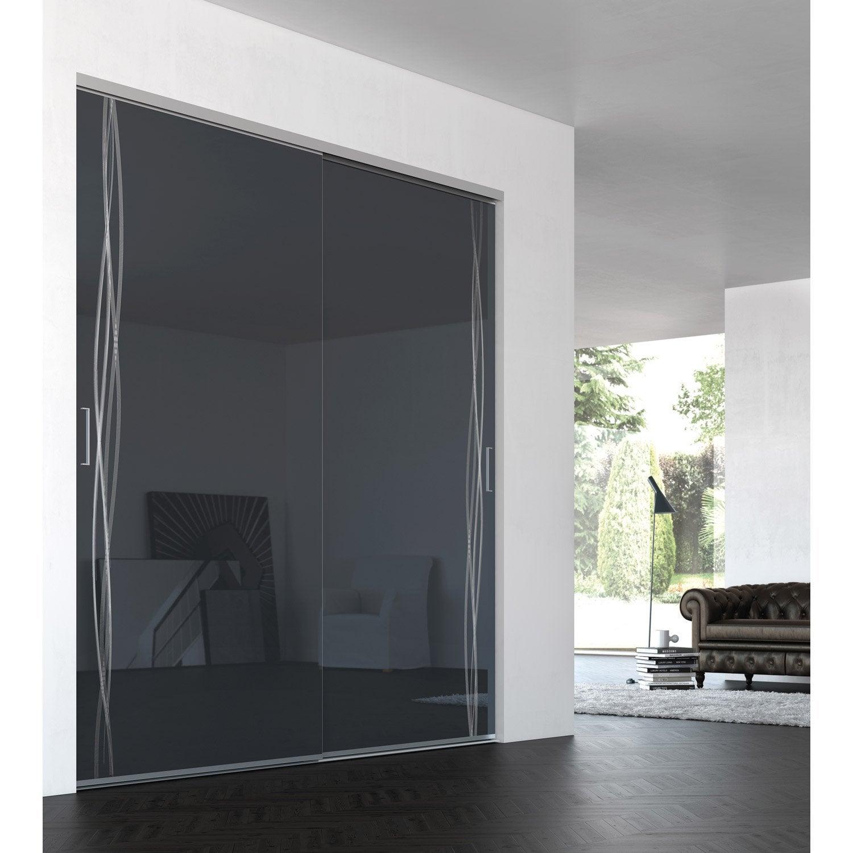 Porte placard coulissante sur mesure iliko classic grand - Leroy merlin porte coulissante sur mesure ...