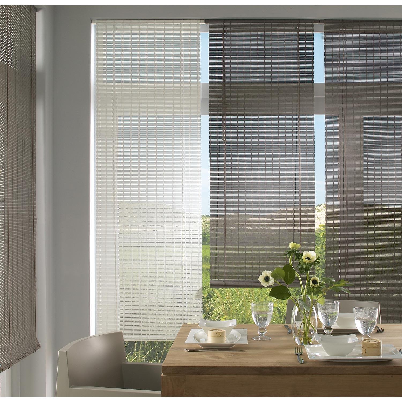 store enrouleur tamisant bois tiss blanc 60 65 x 180 cm. Black Bedroom Furniture Sets. Home Design Ideas