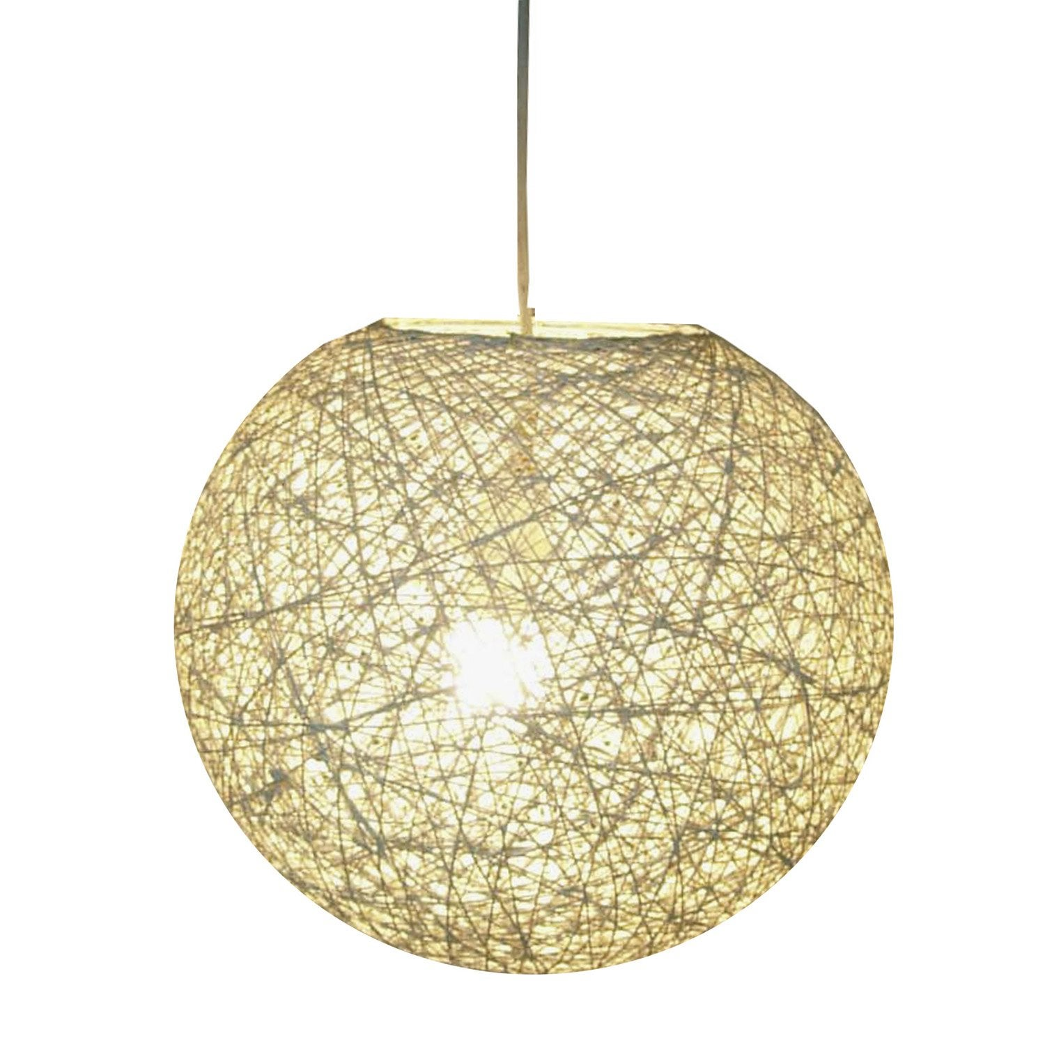 Suspension nature kirou rotin naturel 1 x 40 w seynave for Suspension nature