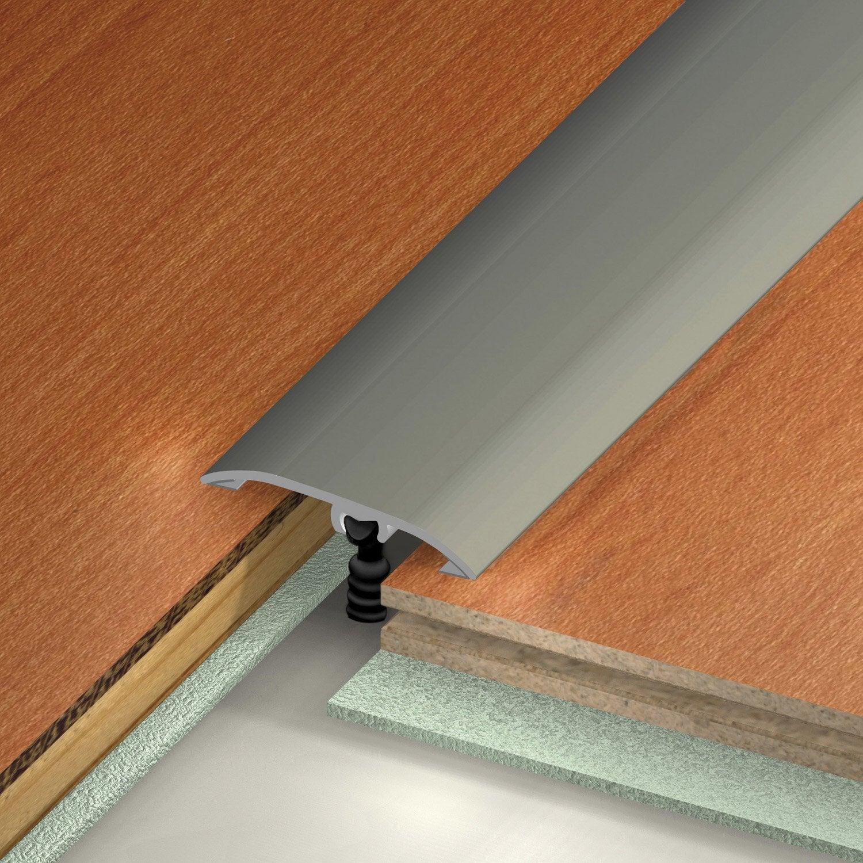 Barre de seuil multi niveaux en aluminium dinac gris 3 7 - Barre de seuil dinac ...