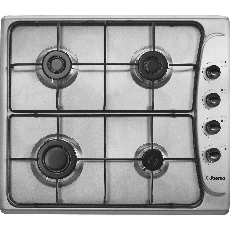 Plaque de cuisson gaz 4 foyers inox iberna pi461 6asx for Nettoyer plaque de cuisson gaz