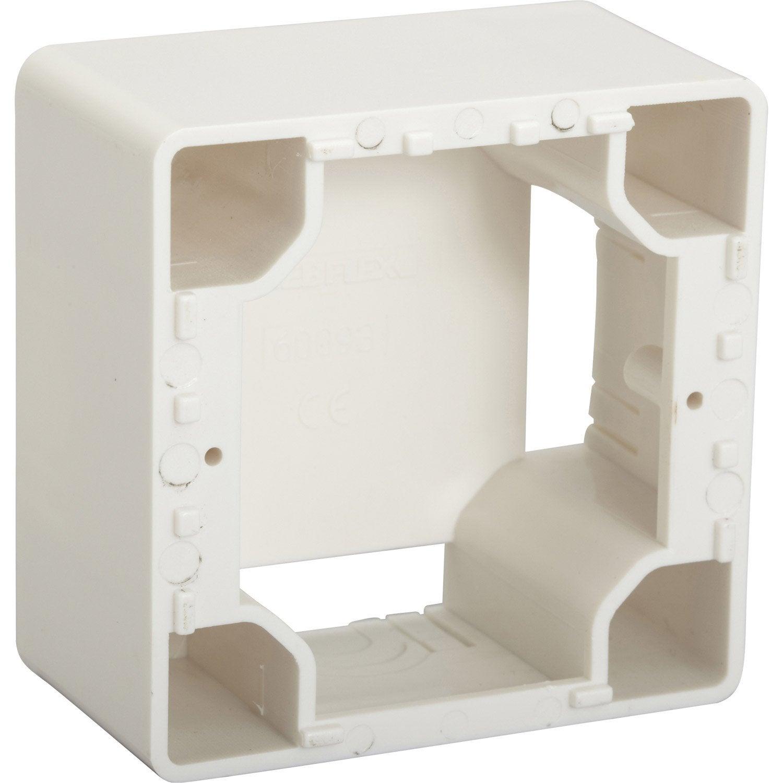 cadre saillie debflex blanc leroy merlin. Black Bedroom Furniture Sets. Home Design Ideas