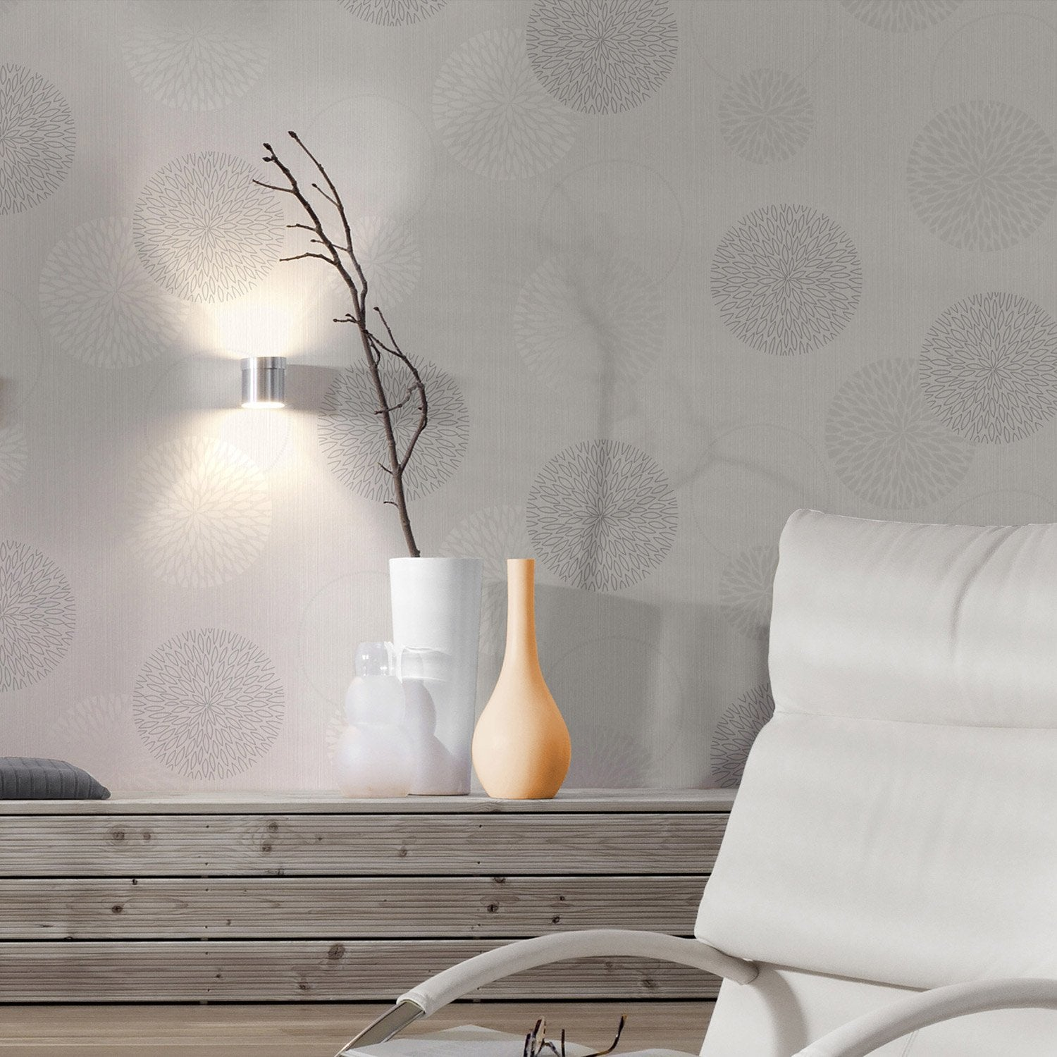papier peint intiss spot bulles gris leroy merlin. Black Bedroom Furniture Sets. Home Design Ideas