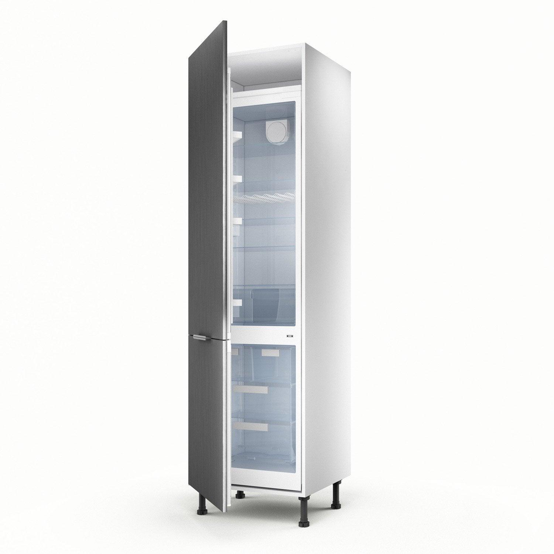 Meuble de cuisine colonne d cor aluminium 2 portes stil h for Meuble cuisine aluminium