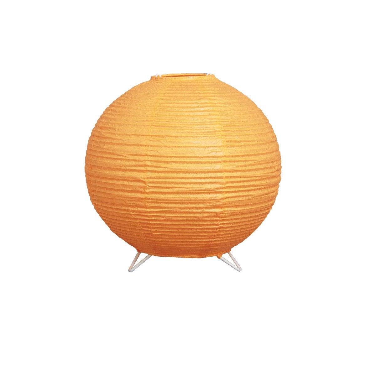 lampe baoji inspire papier orange leroy merlin. Black Bedroom Furniture Sets. Home Design Ideas