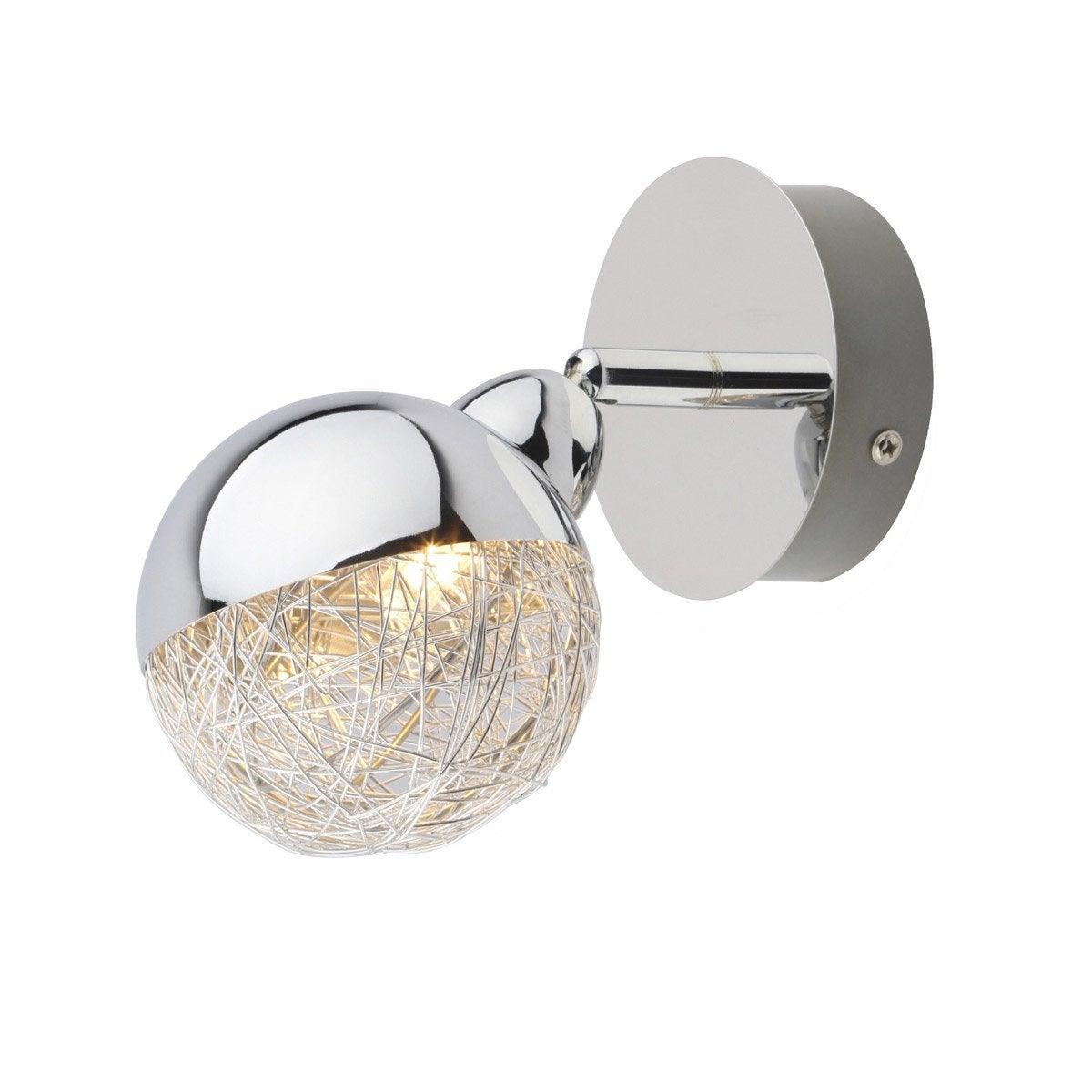 spot pat re sans ampoule 1 x g9 chrome crea inspire leroy merlin. Black Bedroom Furniture Sets. Home Design Ideas