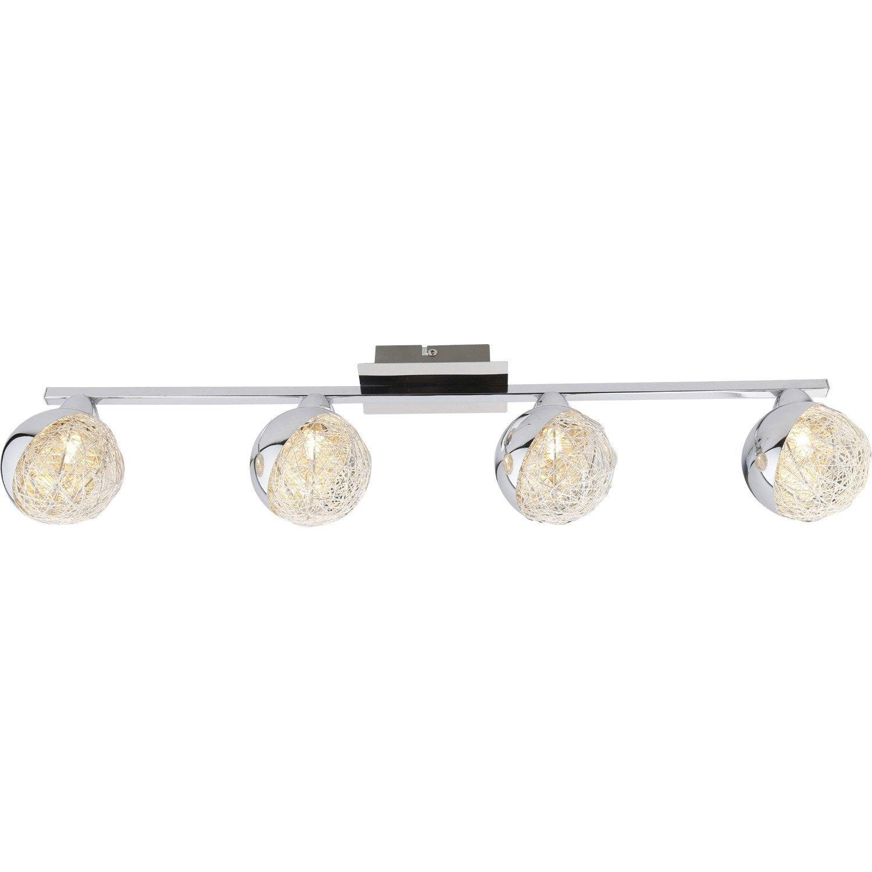 Rampe 4 spots sans ampoule 4 x g9 chrome crea inspire leroy merlin - Rampe exterieure leroy merlin ...