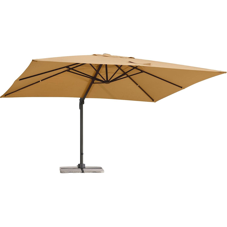 Parasol balcon Lo gris rectangulaire, L.3x l.1cm Leroy Merlin