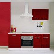 Meuble de cuisine rouge brillant