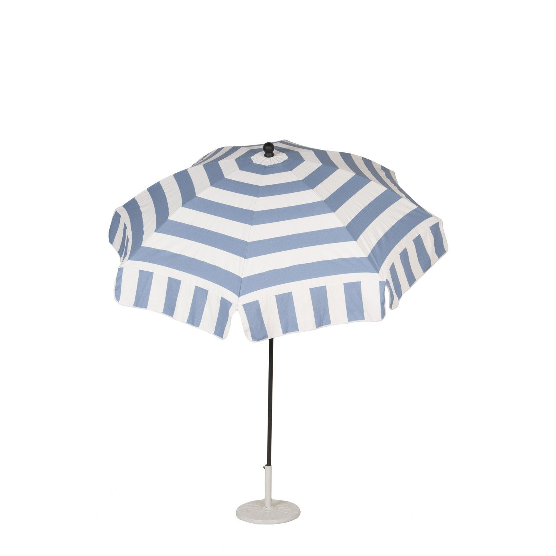 Parasol droit cabourg bleu rond x cm leroy merlin - Rode leroy merlin parasol ...