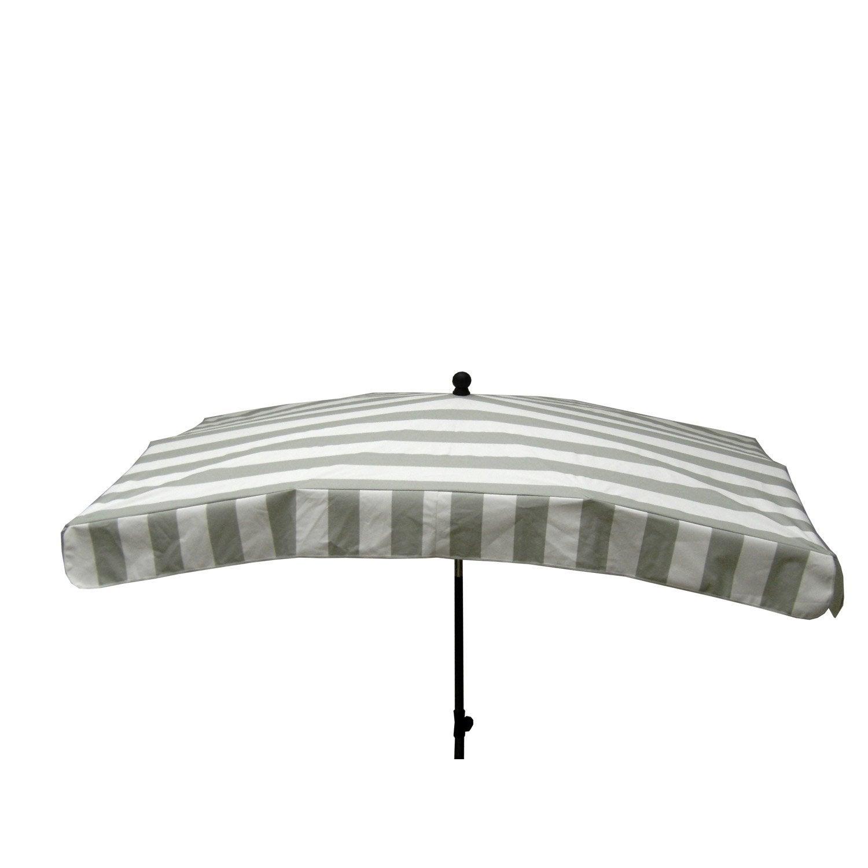 Parasol droit cabourg gris rectangulaire x cm for Parasol deporte rectangulaire leroy merlin