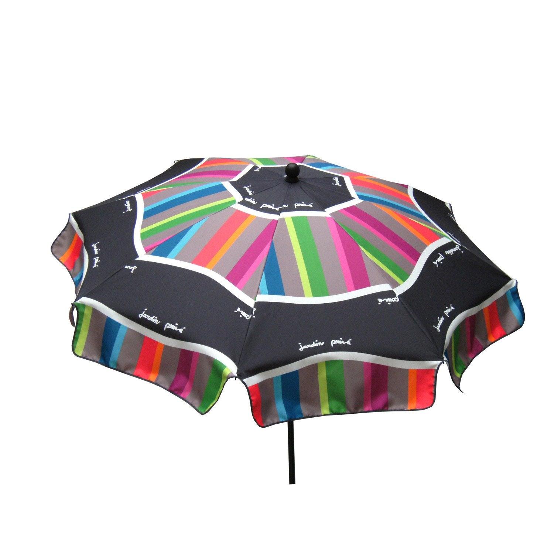 Parasol Droit Malaga Panaché Rond L.240 X L.240 Cm Leroy Merlin #B01B1B 1500 1500 Panche E Tavoli Ikea