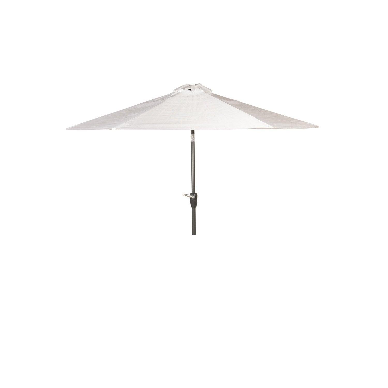 Parasol droit pratik blanc rond x cm leroy - Parasol deporte inclinable leroy merlin ...