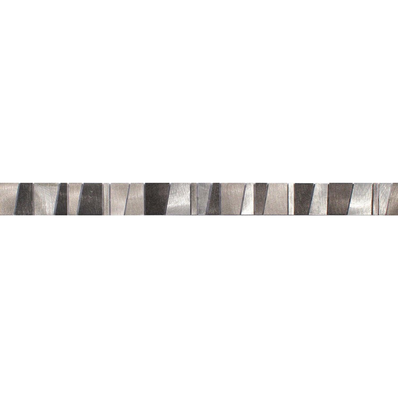 Lot de 5 listels 4 1 gratuit listels trap ze gris l 4 8 x cm leroy me - Frise salle de bain leroy merlin ...